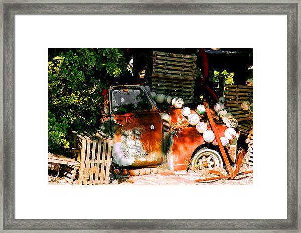 B.o.'s Fish Wagon In Key West Framed Print