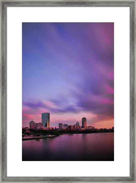 Boston Afterglow Framed Print