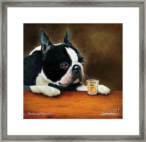 Boston And Bourbon... Framed Print