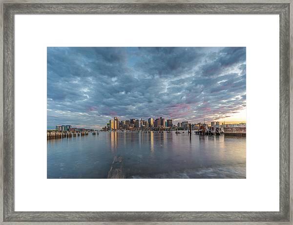 Boston From Carletons Whahrf Framed Print