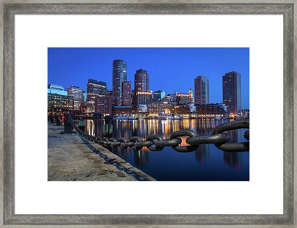Boston Harbor Blue Framed Print