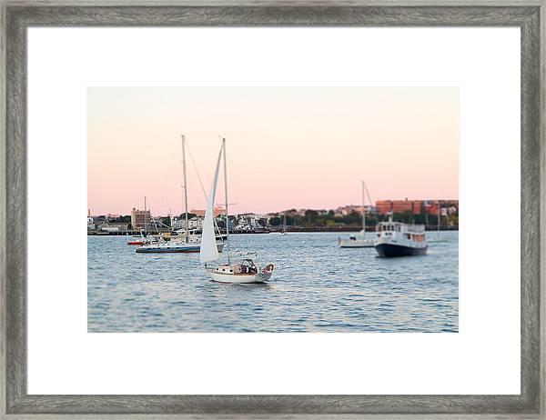 Boston Harbor View Framed Print