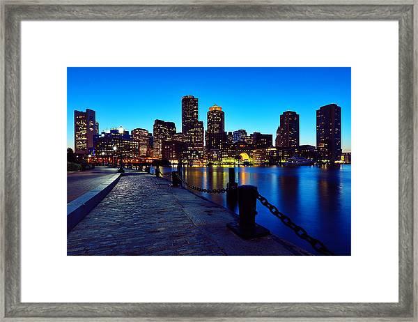 Boston Harbor Walk Framed Print