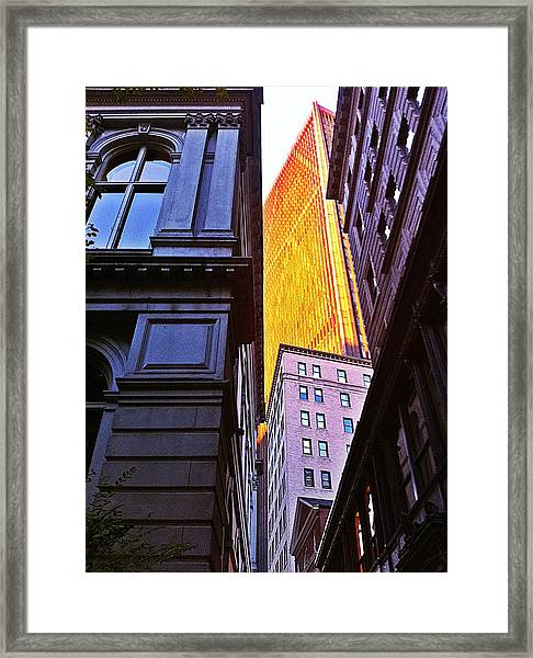 Boston Framed Print by Michael Braun