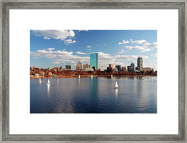 Boston On The Charles  Framed Print