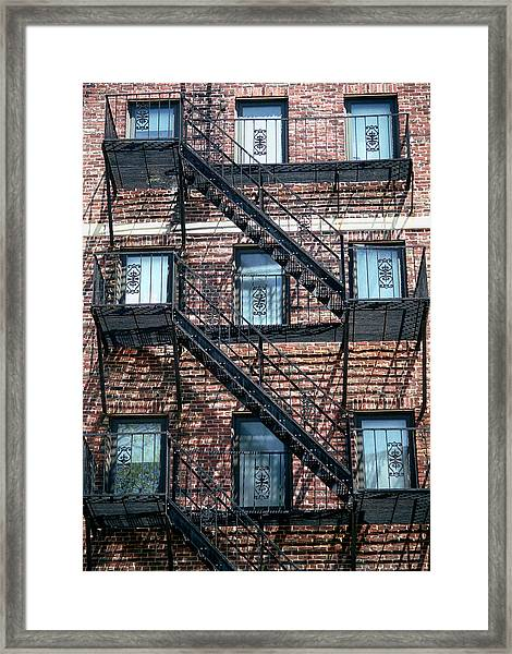 Boston Stairs Framed Print