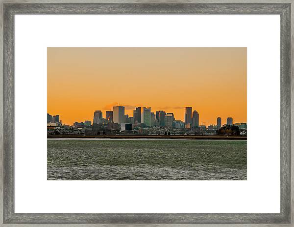 Boston Sunset Framed Print