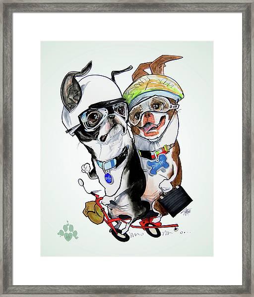 Boston Terriers - Dumb And Dumber Framed Print