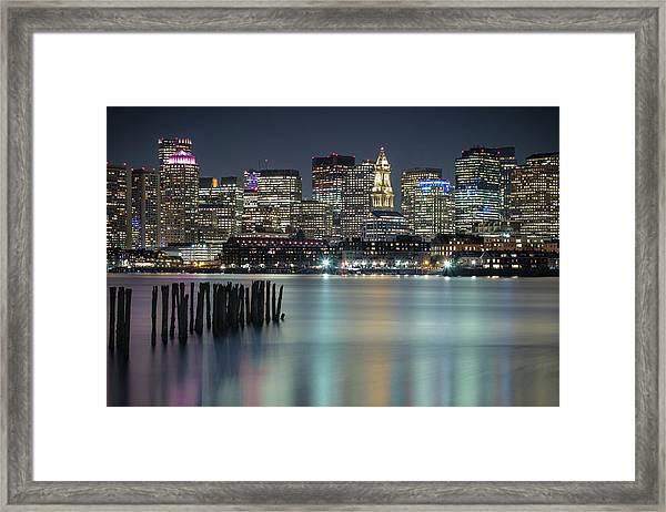 Boston's Skyline From Lopresti Park Framed Print