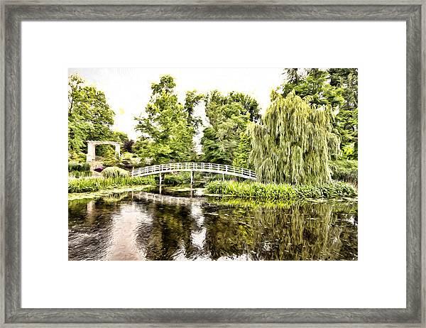 Botanical Bridge - Monet Framed Print