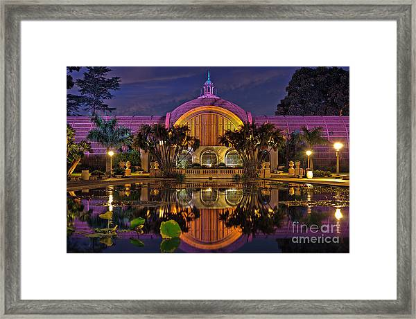Botanical Building At Night In Balboa Park Framed Print