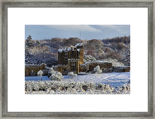 Bothal Castle In Winter Framed Print