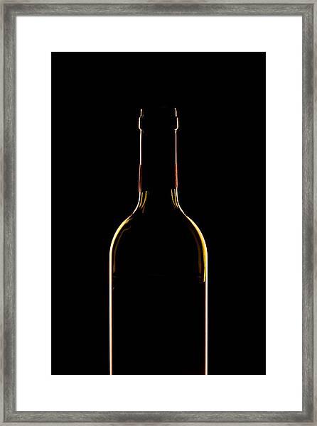 Bottle Of Wine Framed Print by Andrew Soundarajan