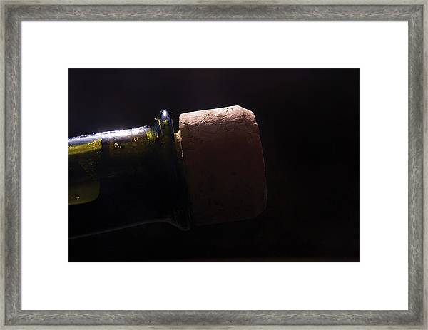 bottle top and Cork Framed Print