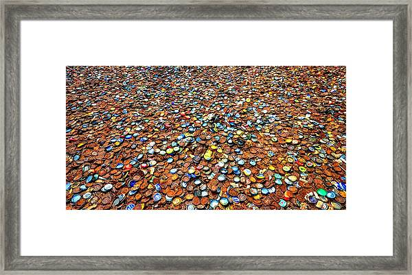 Bottlecap Alley Framed Print