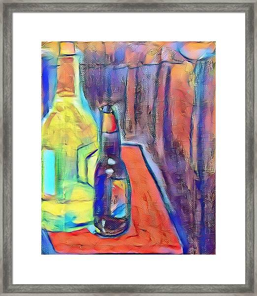 Bottles-still Life  Framed Print