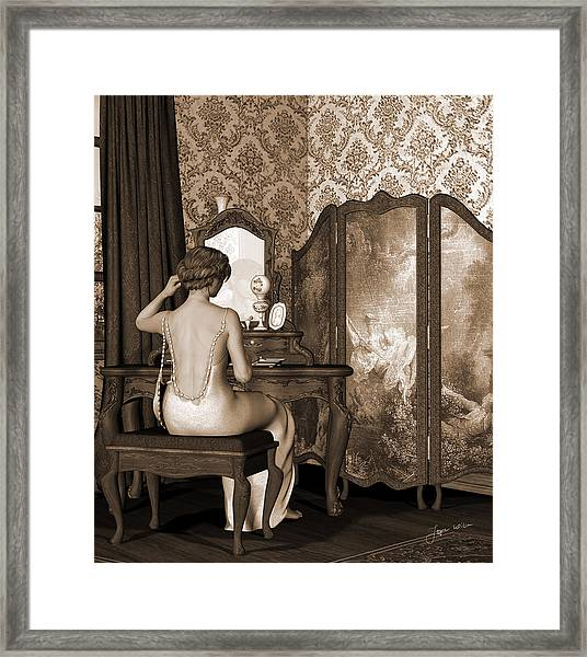 Boudoir Reflection Framed Print