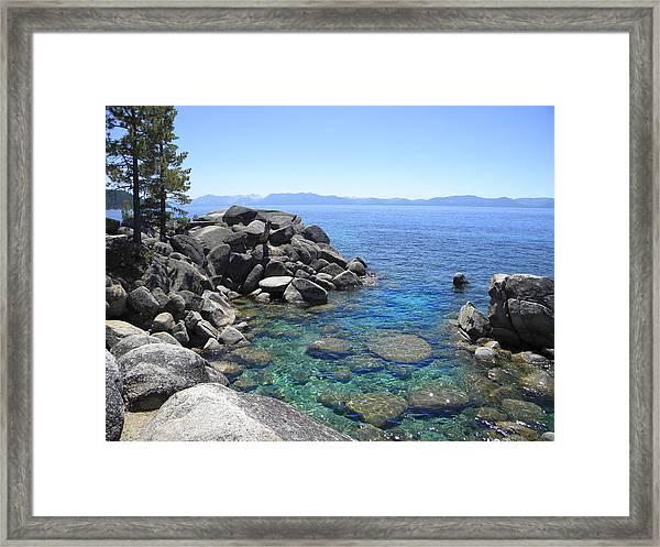 Boulder Cove On Lake Tahoe Framed Print