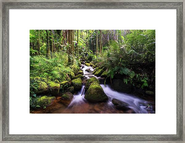 Boulder Creek Falls Framed Print