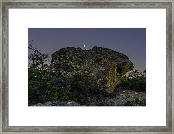 Boulder Moonrise Framed Print