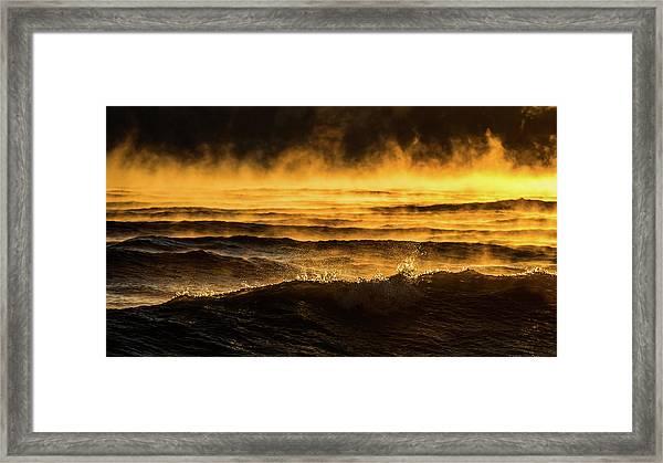 Fire Lake Framed Print