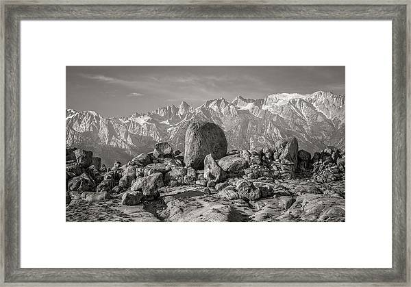 Boulders And Mountains - Sierra Nevada Framed Print by Joseph Smith