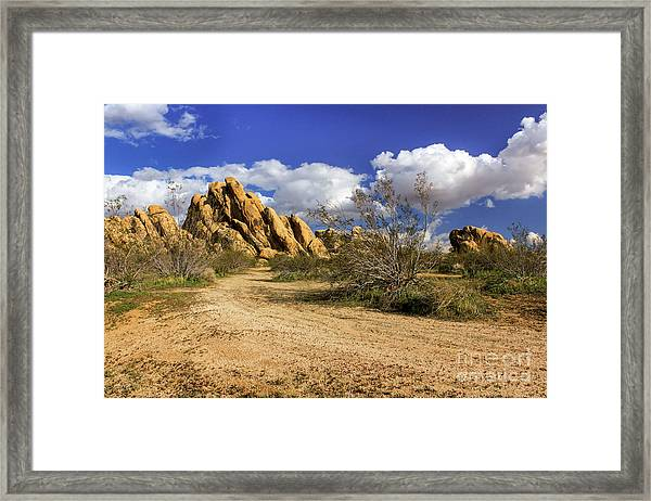 Boulders At Apple Valley Framed Print