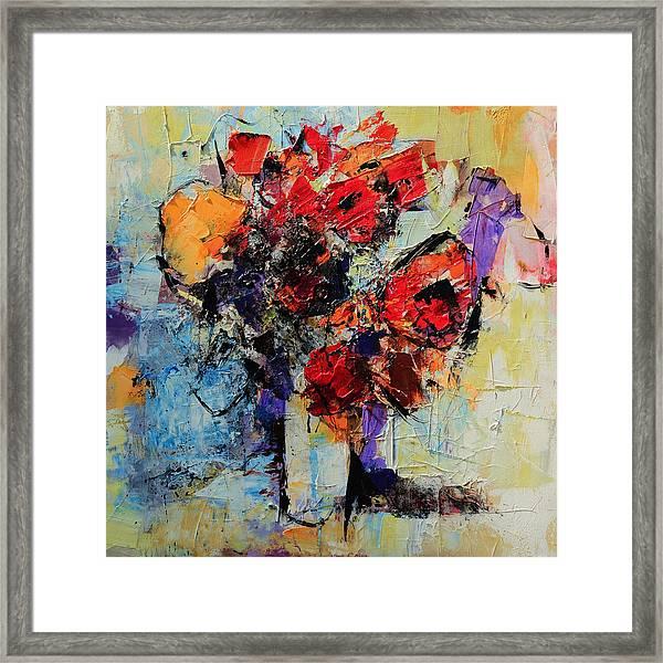 Bouquet De Couleurs Framed Print