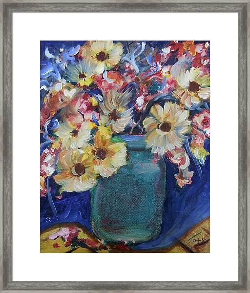 Bouquet Flowers Of Blue  Framed Print