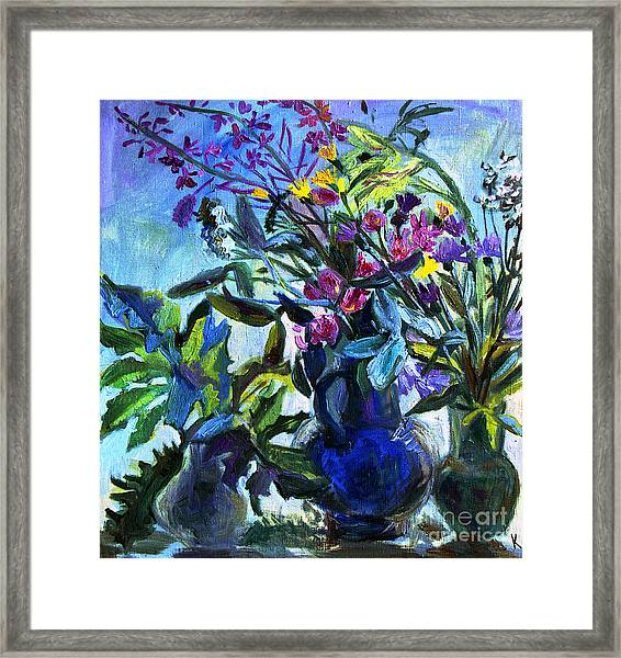 Bouquet Framed Print by Katia Weyher