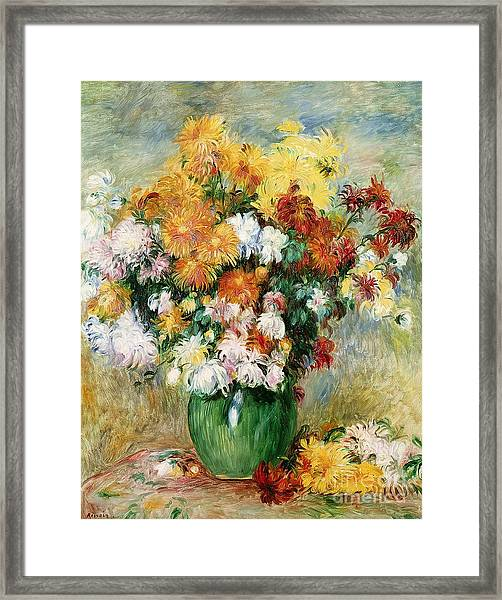 Bouquet Of Chrysanthemums Framed Print