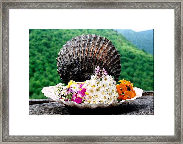 Bouquet Of Flowers Framed Print by Robert Shahbazi