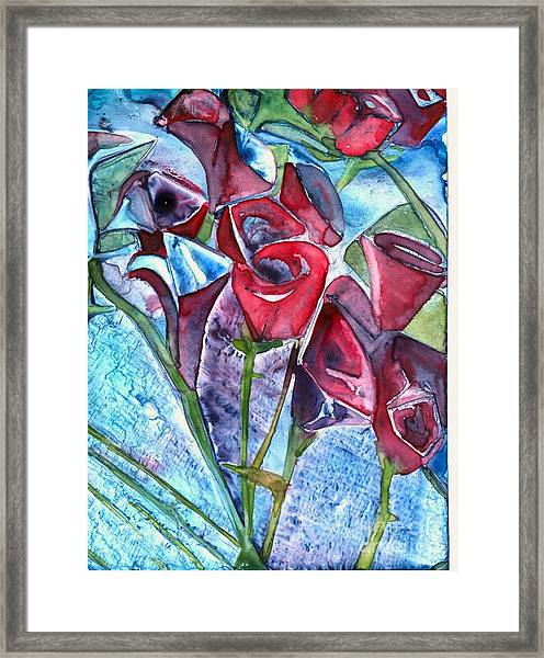 Bouquet Of Roses Framed Print
