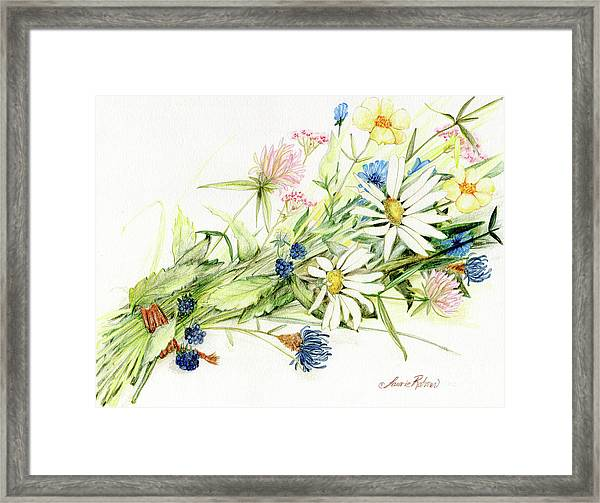 Bouquet Of Wildflowers Framed Print