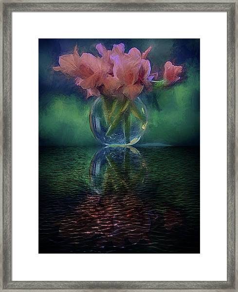 Bouquet Reflected Framed Print