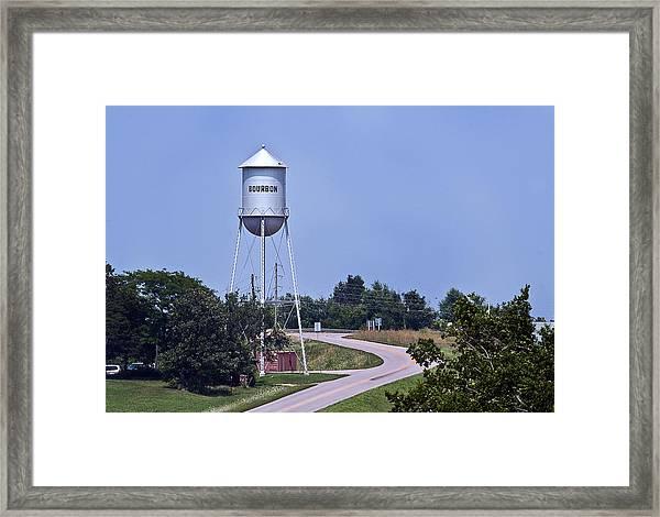 Bourbon Mo Tower Framed Print