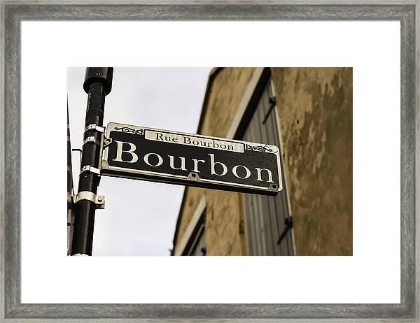 Bourbon Street, New Orleans, Louisiana Framed Print