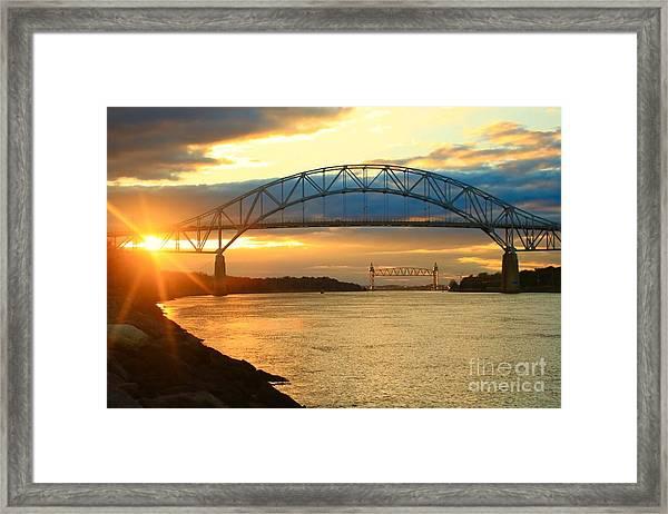 Bourne Bridge Sunset Framed Print