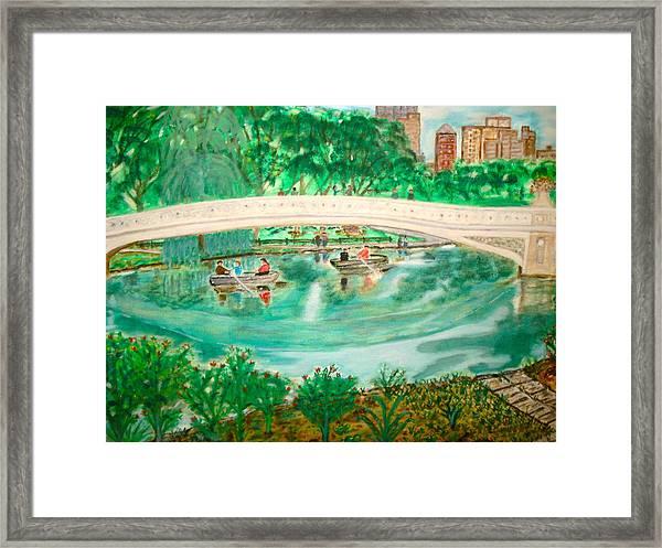Bow Bridge Central Park Framed Print