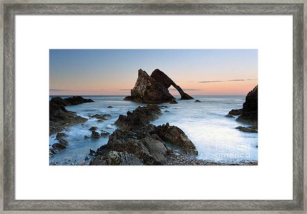 Bow Fiddle Rock At Sunset Framed Print