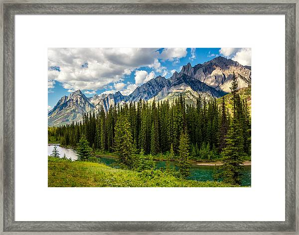 Framed Print featuring the photograph Bow River by Claudia Abbott