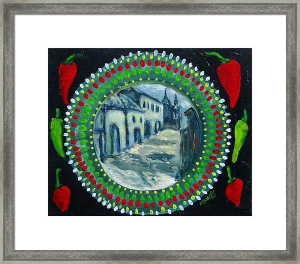 Bowl Of Chile Framed Print