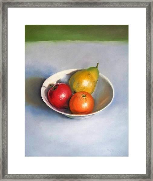 Bowl With Fruit Framed Print