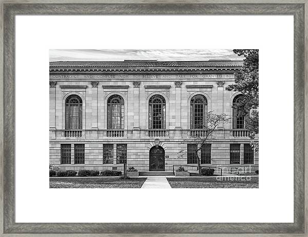 Bowling Green State University Mc Fall Center Framed Print by University Icons