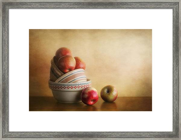 Bowls And Apples Still Life Framed Print