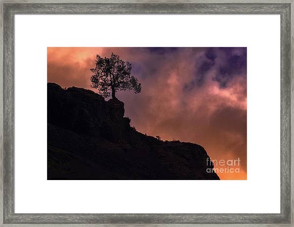 Box Canyon Sunset Framed Print