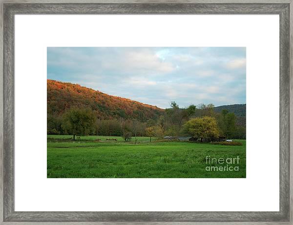 Boxley Valley Arkansas Framed Print