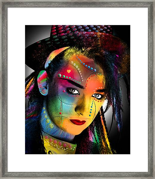 Boy George  Framed Print