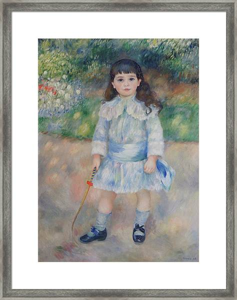 Boy With A Whip Framed Print by Pierre Auguste Renoir