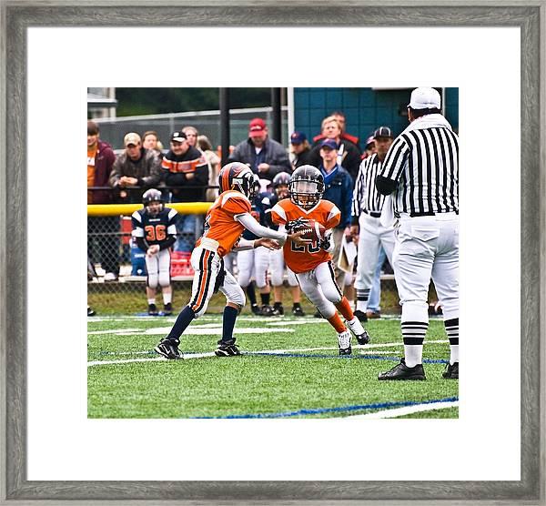 Boys Football Framed Print